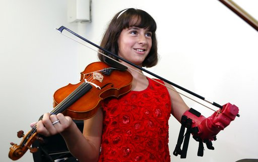 Girl Violin Prosthetic